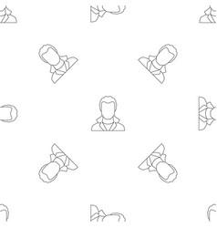 man avatar pattern seamless vector image