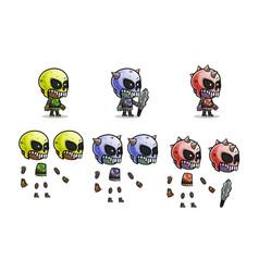 Mini character monster kit vector