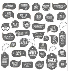 Modern sale stickers collection 5 vector