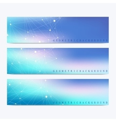 Modern set of banners Geometric abstract vector image