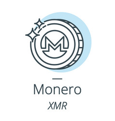 monero cryptocurrency coin line icon of virtual vector image