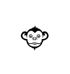 monkey smiley face logo vector image