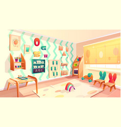 montessori room elementary school vector image