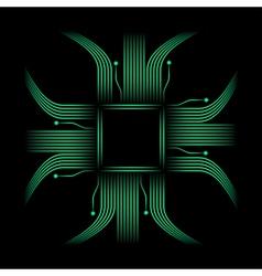 Neon chip high tech background vector