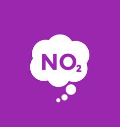 No2 nitrogen dioxide icon vector