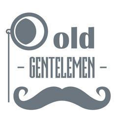 old gentlemen logo simple style vector image