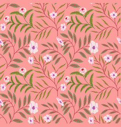 painted flowers seamless background wildflowers vector image