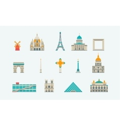 Paris historical and modern building vector