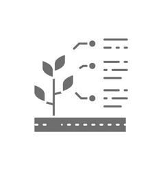 Plant properties seed characteristics grey vector