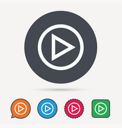 play icon audio or video player sign vector image