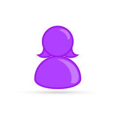 purple female lesbian bisexual profile picture vector image