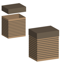 realistic boxes with lid on white backgroundon vector image