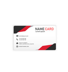 red abstract creative business name card im vector image