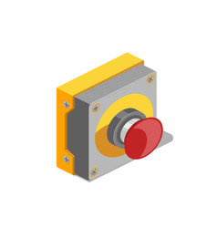 Red button isometric vector