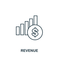 revenue outline icon thin line element from vector image
