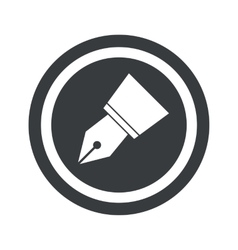 Round black pen nib sign vector