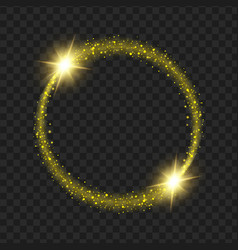 round yellow glow light effect stars bursts with vector image