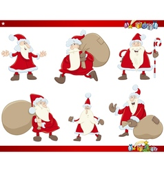 santa claus christmas set vector image