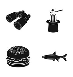Sea ocean meat and other web icon in black style vector