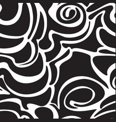 Seamless black pattern for decoration fabric vector