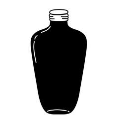 Silhouette long mason jar preserve style vector