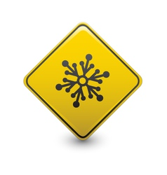 Snow warning sign vector