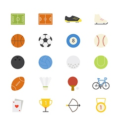 Sport Flat Icons color vector image