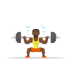 strong man doing squats vector image