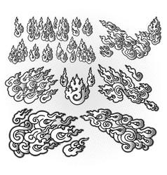 Tibetan flame pattern vector