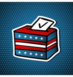 USA elections ballot box vector
