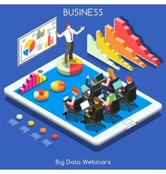 Webinars 01 Business Isometric vector