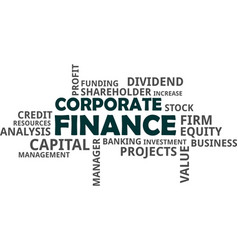 word cloud - corporate finance vector image