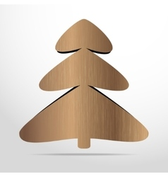 xmas tree wooden flat icon vector image