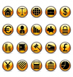 business and finance symbols vector image vector image
