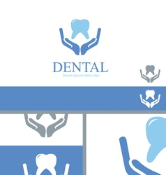 Dental Care Dentist Teeth Wellness Logo Concept vector image