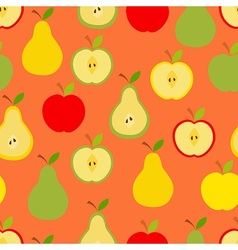 Apples and pears vector image