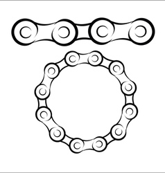 Bicycle chain sketch vector image