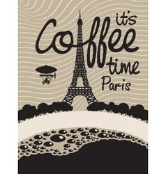 coffee paris vector image vector image