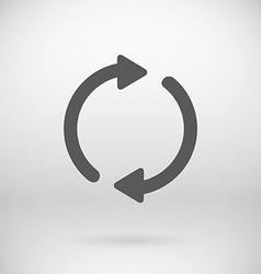 Flat Back Sign Refresh Symbol Background vector image