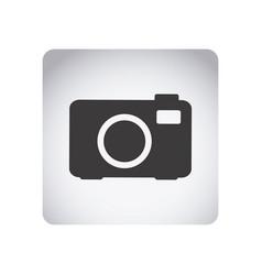 gray emblem camera icon vector image vector image