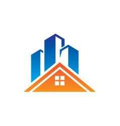 home skyscraper building logo vector image vector image