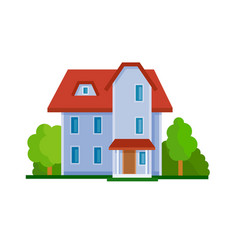 house flat icon vector image