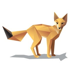 satnding fox vector image vector image