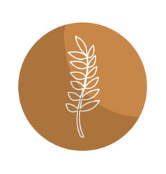 sticker healthy wheat organ plant nutricious vector image vector image