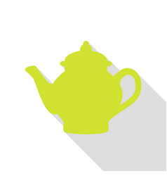 tea maker sign pear icon with flat style shadow vector image vector image