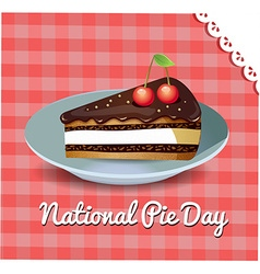 card National Pie Day vector image vector image