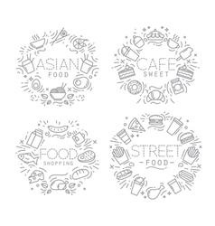 Food monograms vector image