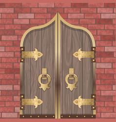 gold castle gate vector image
