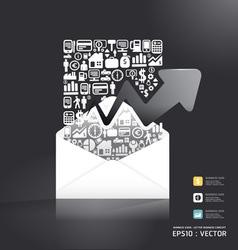 letter paper shape concept vector image vector image