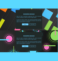 modern design web pages set of abstract cover vector image vector image